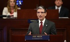 U.S. Rep. Joe Heck, R-Nevada, speaks to a joint session of the Legislature in Carson City, Nev., on Wednesday, April 3, 2013.