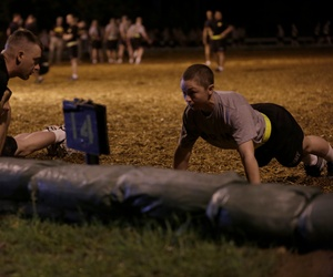 A U.S. Army Soldier conducts a Ranger Physical Assessment during the Ranger Course on Fort Benning, GA., April 20, 2015.