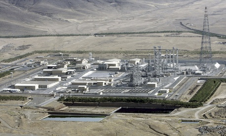 This Saturday, Aug. 26, 2006 file photo, shows an aerial view of a heavy-water production plant in the central Iranian town of Arak.