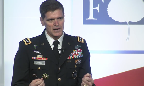 U.S. Special Operations Command commander Gen. Joseph Votel answers a question at the Aspen Security Forum on July 24, 2015.