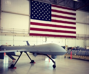 A Predator drone at the Creech Air Force base in Nevada