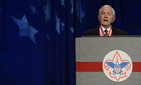 In this May 23, 2014, file photo, former Defense Secretary Robert Gates addresses the Boy Scouts of America's annual meeting in Nashville, Tenn.