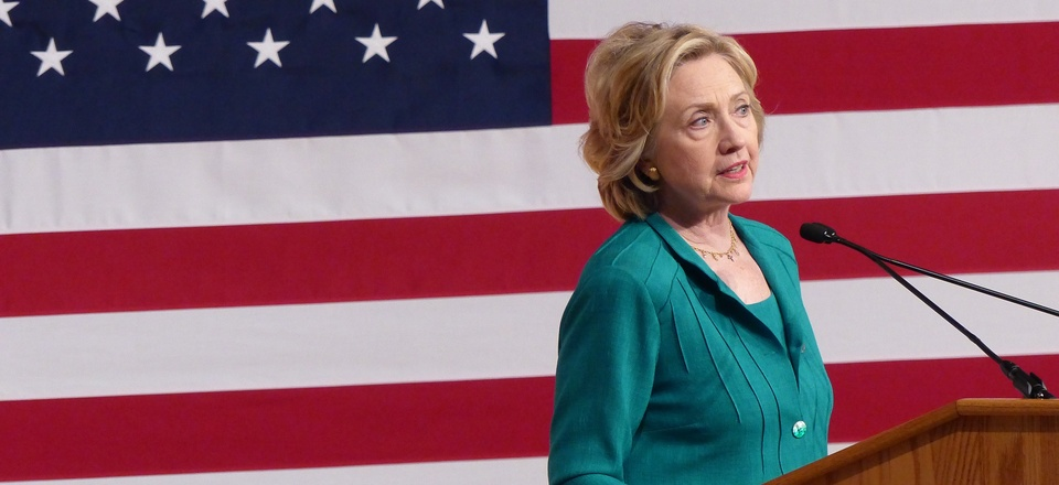 Democratic presidential candidate, former Secretary of State Hillary Rodham Clinton calls on Congress to end the trade embargo the U.S. has imposed against Cuba since 1962, Friday, July 31, 2015.