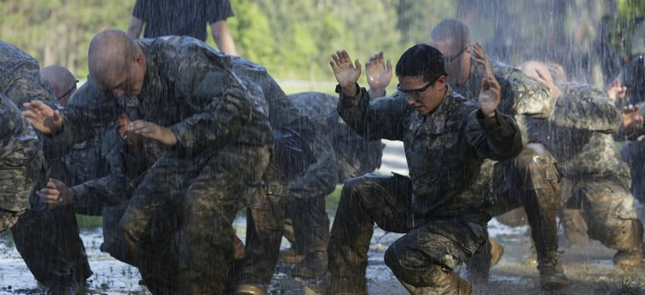 U.S. Army soldiers during the Ranger Course on Fort Benning, Ga., on April 21, 2015.