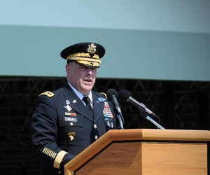 Army Chief of Staff Gen. Mark A. Milley's change-of-command ceremony at Joint Base Myer-Henderson Hall's Summeral Field in Arlington, Va., Aug. 14, 2015.