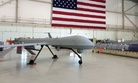 A lonely Predator drone sits in an airplane hanger at the Creech, Air Force base in Nevada, June, 2015.