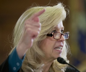 VA Undersecretary for Benefits Allison Hickey testifies on Capitol Hill in February.