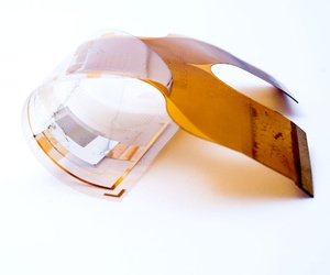 Large-area fully-organic photodetector array fabricated on a flexible substrate. The imager is sensitive in the wavelength range suitable for x-ray imaging applications (developed by imec, Holst Centre and Philips Research.) 2013