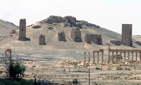 A general view of the ancient Roman city of Palmyra, northeast of Damascus, Syria. Islamic State militants have blown up one of the most important temples in the ancient Syrian city of Palmyra.