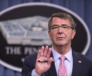 Defense Secretary Ash Carter speaks to reporters during a news conference at the Pentagon, Wednesday, Sept. 30, 2015.
