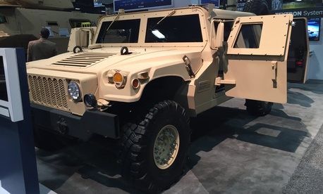 Textron System's Survivable Combat Tactical Vehicle, an armored version of the Humvee.