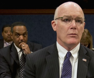 Secret Service Director Joseph Clancy testifies before a joint House-Senate panel Tuesday.