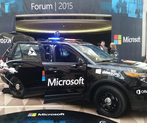 A Ford Police Interceptor outfitted with the Microsoft Advanced Patrol Platform.