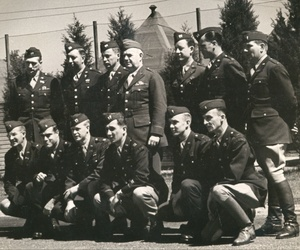 OSS founder Gen. William Donovan with members of the OSS Operational Groups, forerunners of U.S. Special Operations Forces, at Congressional Country Club in Bethesda, Md., which served as an OSS training facility.
