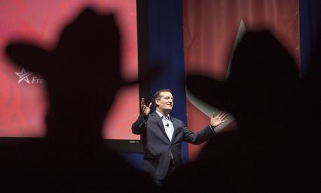 Republican presidential candidate Sen. Ted Cruz, R-Texas, speaks Saturday, Dec. 5, 2015, during the Rising Tide Summit at the US Cellular Center in Cedar Rapids, Iowa.