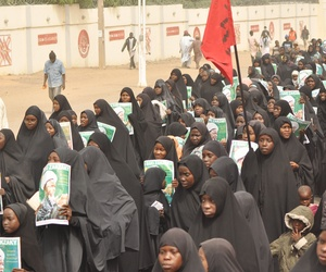 Nigeria shiites muslim took to the street to protest and demanded the release of Shiite leader Ibraheem Zakzaky in Kano, Nigeria, Monday, Dec. 21, 2015.