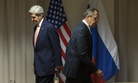 U.S. Secretary of State John Kerry, left, and Russian Foreign Minister Sergey Lavrov walk to their seats for a meeting about Syria, in Zurich, Switzerland, on Wednesday, Jan. 20, 2016.