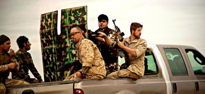 Western anti-ISIS volunteers in Kurdistan.