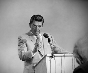 Republican presidential candidate Ronald Reagan, brought his campaign to Daytona Beach, Florida on Saturday, Feb. 7, 1976.