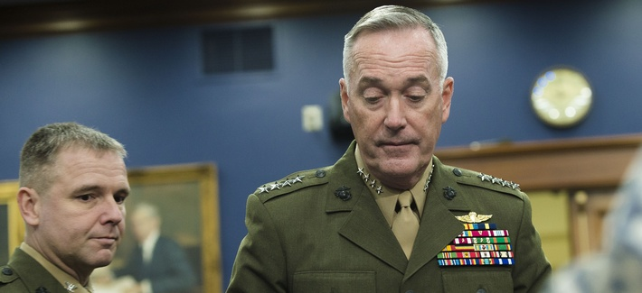 Gen. Joseph Dunford, chairman of the Joint Chiefs of Staff, in the House Appropriations Committee, Feb. 25, 2016.