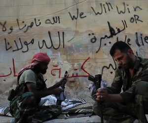 Free Syrian Army rebels clean their weapons in Aleppo, Syria, in this file photo from 2012.