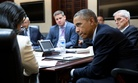 President Barack Obama listens to National Security Advisor Susan E. Rice during a National Security Council meeting to prep for the United Nations General Assembly, in the Situation Room of the White House, Sept. 19, 2014.