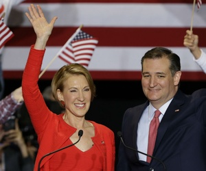 Republican presidential candidate Ted Cruz announces he has tapped former Hewlett-Packard CEO Carly Fiorina as his running mate.