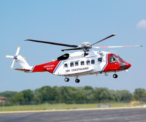 The first S-92 helicopter delivered to Bristow Group for search-and-rescue service in the United Kingdom seen in September 2014.