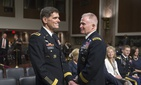 Gen. Joseph Votel (left) and Gen. Tony Thomas