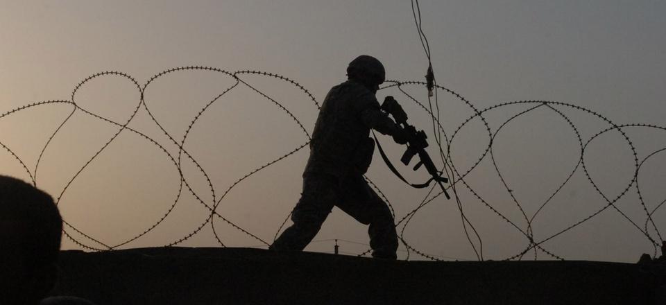 A U.S. soldier in Baghdad, May 2007.