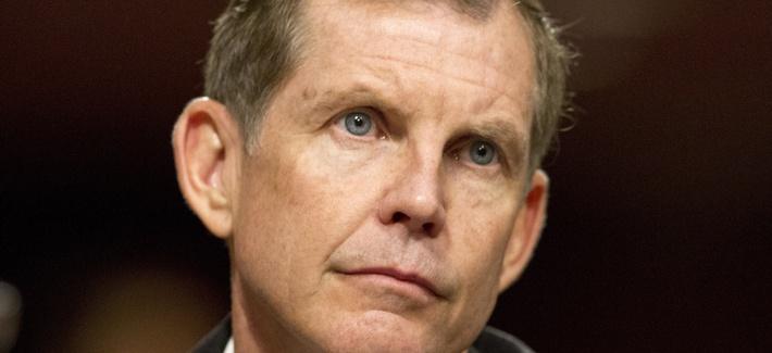 Michael Lumpkin testifies before a Senate Appropriations Committee hearing in 2014.