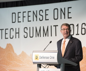Secretary of Defense Ash Carter speaks at the Defense One Tech Summit in Washington D.C., June 10, 2016.