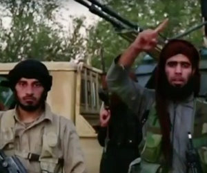 Islamic State fighters appear in a November 2015 video.