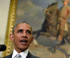 Obama spoke from the Roosevelt Room Wednesday.