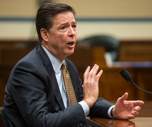 FBI Director James Comey testified on Capitol Hill Thursday.