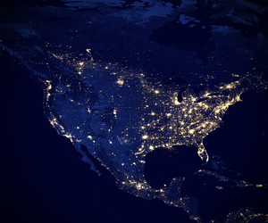 North America at night, 2012.