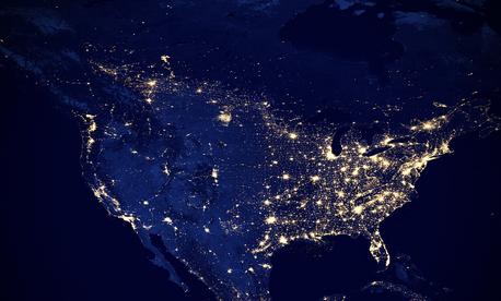 North America at night, 2012.