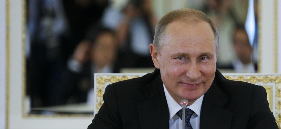 Russian President Vladimir Putin speaks at a meeting with investors at the St. Petersburg International Economic Forum in St. Petersburg, Russia, on June 16, 2016.