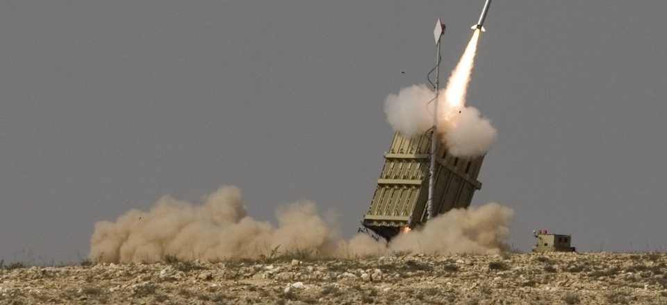On Aug. 21, 2011, a rocket is launched from the Israeli anti-missile system known as Iron Dome to intercept a rocket fired by Palestinian militants from the Gaza Strip, in the southern city of Beersheba, Israel.