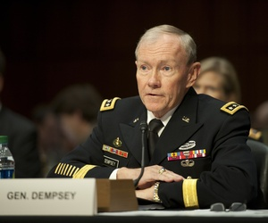 Gen. Martin Dempsey answered questions during testimony to the Senate Armed Services Committee on November 15, 2011.