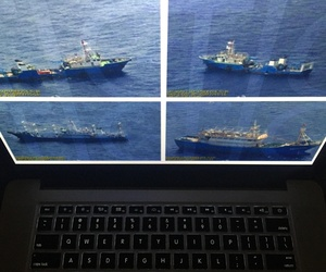 Photographs released by the Philippine government are displayed on a computer screen in Bangkok, Wednesday, Sept. 7, 2016.