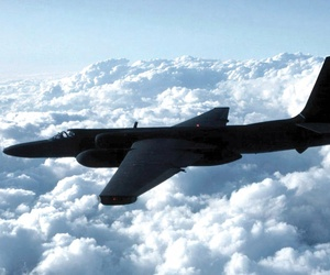 A U.S. Air Force U-2S aircraft at an undisclosed location, photographed February 3, 2012.