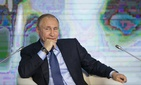 Russian President Vladimir Putin is seen here attending the Business Russia Congress in Moscow Tuesday.