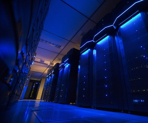 Server banks at work inside a data center at AEP headquarters in Columbus, Ohio, May 20, 2015.