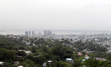 This Jan. 1, 2016 photo shows a view of Port-of-Spain, the capital of Trinidad and Tobago.