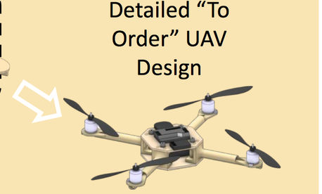 A poster describes how 3D printing might help soldiers quickly obtain drones customized for their mission.