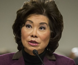 Transportation Secretary-designate Elaine Chao testifies on Capitol Hill in Washington, Wednesday, Jan. 11, 2017.