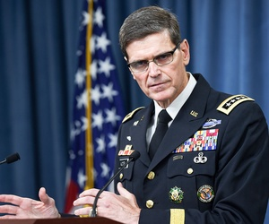 "Gen. Joseph Votel, commander, U.S. Central Command, told Congress that the U.S. needs to use ""a combination of all of our elements of power — hard power and soft power."""