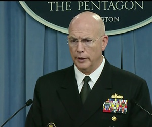 Adm. Kurt W. Tidd, who leads U.S. Southern Commmand, briefs reporters at the Pentagon.