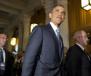 President Barack Obama, before addressing the nation that evening, went to Capitol Hill to meet with congressional Republicans in person, Tuesday, Sept. 10, 2013.